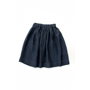 Skirt, blue heavy linen