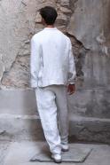 Pantalon été pour homme, lin épais naturel