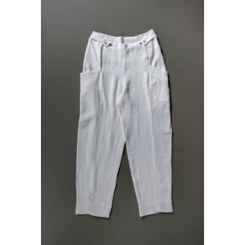Pantalon été pour homme, lin épais blanc