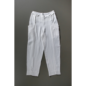 Summer trousers for man, white heavy linen