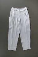 Summer trousers for man, white heavy linen