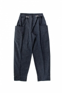 Summer trousers for man, blue recycled denim