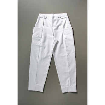 Summer trousers for man, white denim