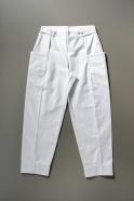 Summer trousers for man, white denim