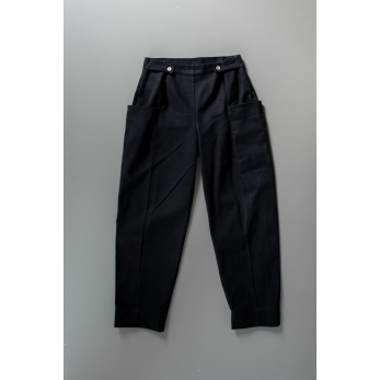 Summer trousers for man, black denim