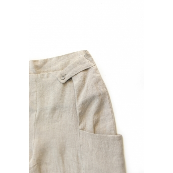 Summer trousers for man, natural linen