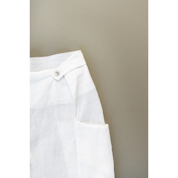 Summer trousers for man, white linen