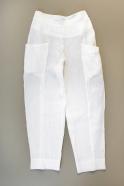 Pantalon été pour homme, lin blanc
