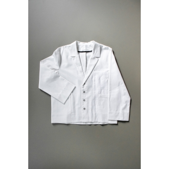 Suit jacket for man, white denim
