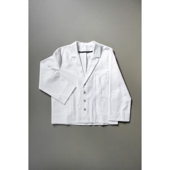 Suit jacket for man, white denim