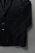 Suit jacket for man, black denim