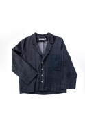Suit jacket for man, blue recycled denim