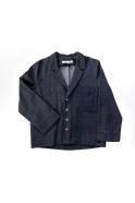 Veste de costume pour homme, jean recyclé bleu