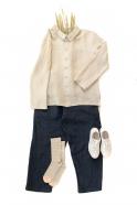 Unisex shirt, natural linen