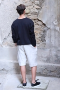 Unisex short, natural heavy linen
