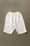 Unisex short, white heavy linen
