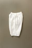 Short mixte pour homme, lin épais blanc