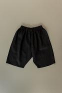 Unisex short, black linen