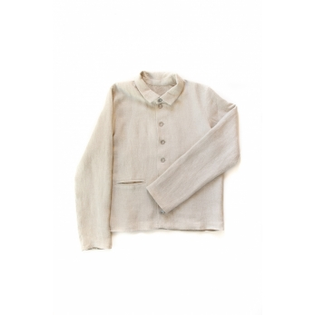 Man jacket, natural heavy linen