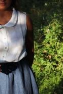 Chemise sans manche, lin blanc
