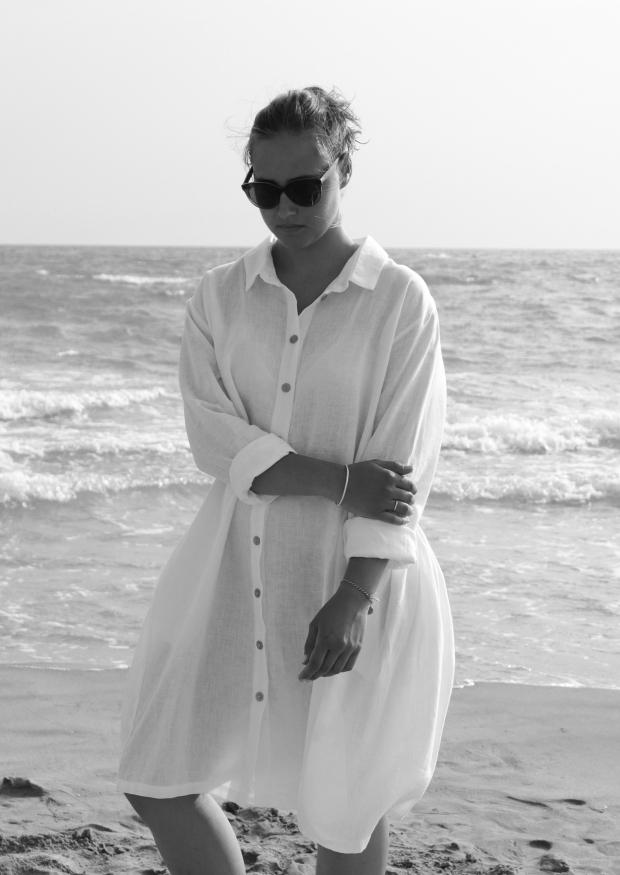 Robe Chemise Lin Blanc Le Vestiaire De Jeanne Sarl