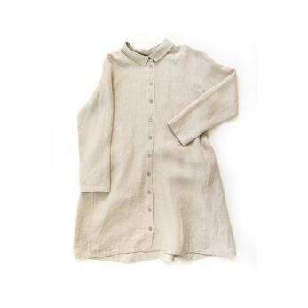 Shirt-dress, natural linen