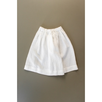 Uniform skirt, white linen