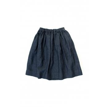 Skirt, indigo linen