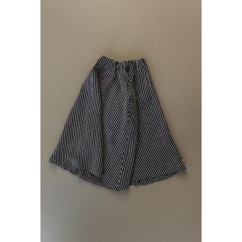 Long skirt, dark stripes linen