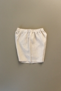 Short, natural linen