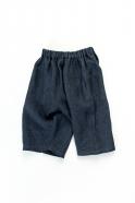 Unisex short, indigo heavy linen
