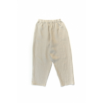 Classic trousers, natural linen