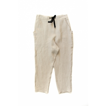 Pockets trousers, natural linen
