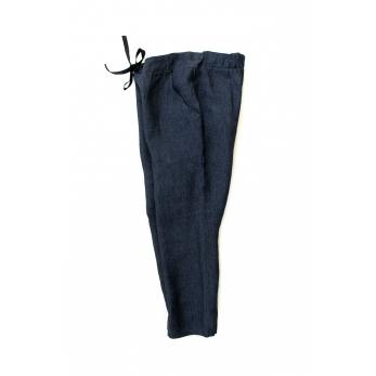 Pantalon à poches, lin indigo