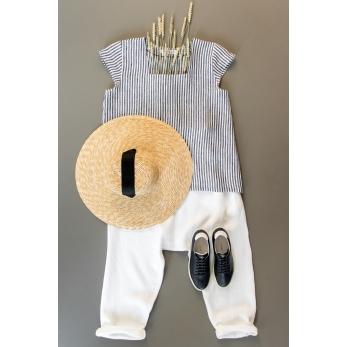 Saroual trousers, white heavy linen