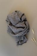 scarf, grey linen