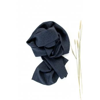 scarf, indigo linen