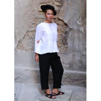 Uniform trousers, black linen