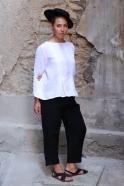 Pantalon Uniforme, lin noir