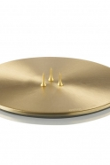 Candle plate, gold