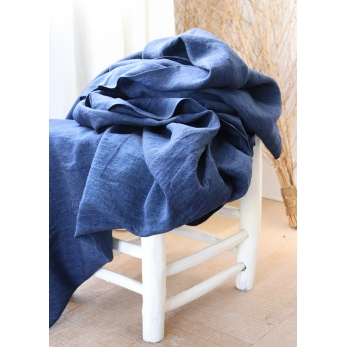 Cloth, indigo linen