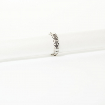 Fine silver chain mail ring