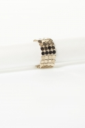 Large gold chain mail ring