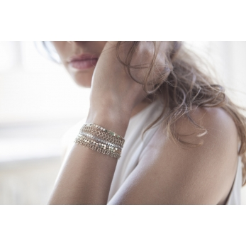 Fine silver chain mail bracelet
