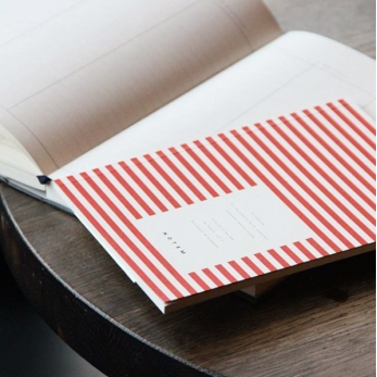 Notebook VITA, red stripes