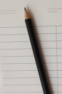 Magnetic paper pencil, black
