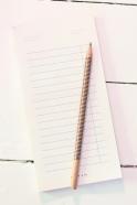 Magnetic paper pencil, blue stripes