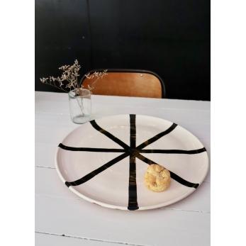 """assiette XXL """"étoile"""" noire"""