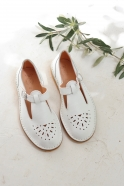 Sandals Alain, white leather