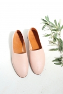 Chaussures Maury, cuir nude